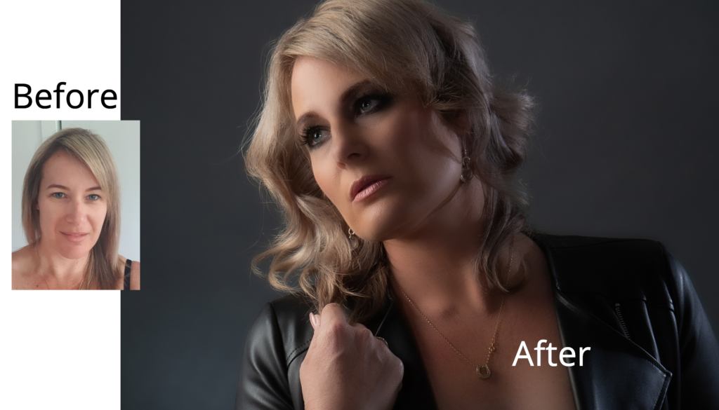 glamour before and after photo gold coast photography